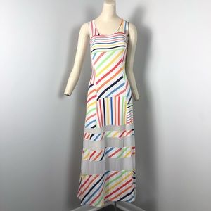 Peter Som Maxi Dress Multicolor Size XS